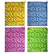 Inkology Monochromatic Polka Dot Pencil Pouches