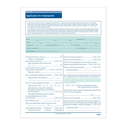 complyright state specific job applications california pack of 50 by