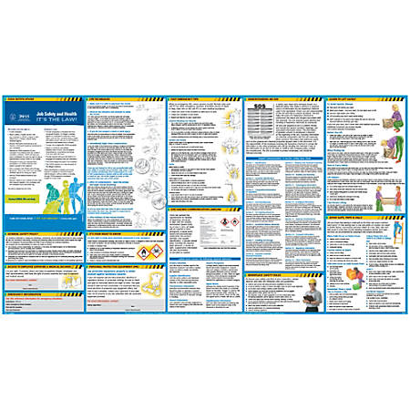 "ComplyRight® All In One Safety Poster, 18"" x 24"", English"