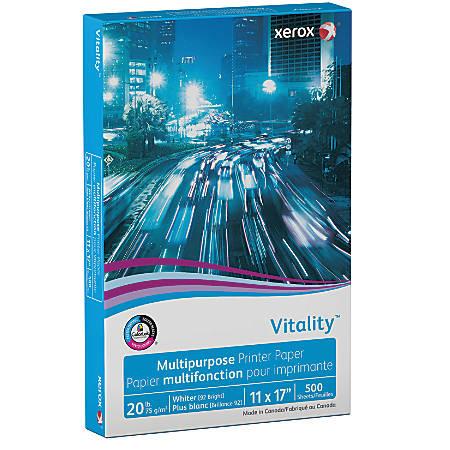 "Xerox® Vitality™ Multi-Use Printer Paper, Ledger Size (11"" x 17""), 20 Lb, FSC® Certified, Ream Of 500 Sheets"
