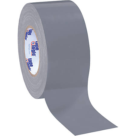 """Tape Logic® Color Duct Tape, 3"""" Core, 3"""" x 180', Silver, Case Of 16"""