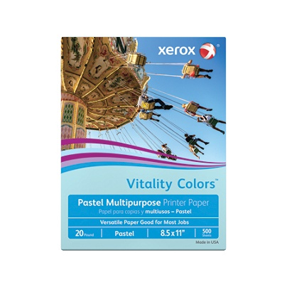 Xerox Vitality Colors Multipurpose Printer Paper Letter Paper Size
