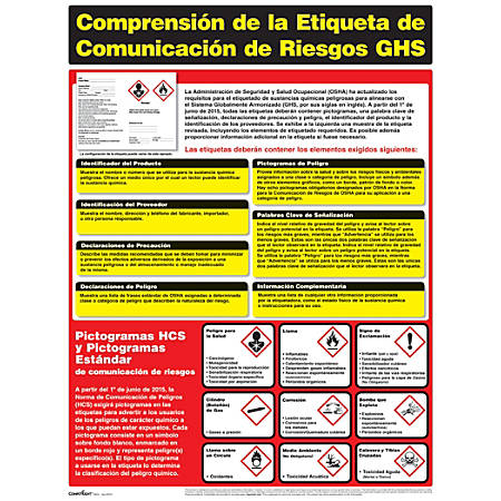 "ComplyRight® Hazardous Materials Poster, 18"" x 24"", Spanish"
