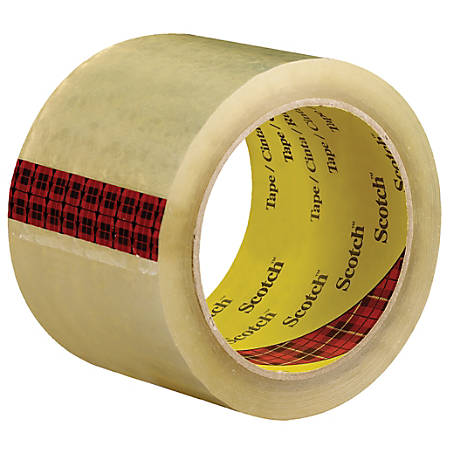 """3M™ 3743 Carton Sealing Tape, 3"""" Core, 3"""" x 55 Yd., Clear, Case Of 24"""