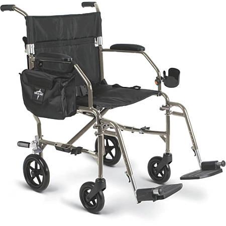 Medline Ultralight Freedom 2 Transport Chair, Silver