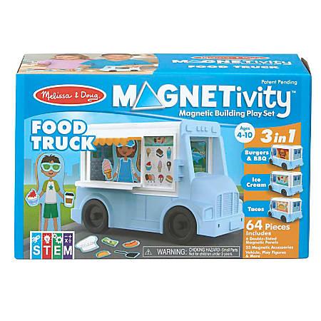 Melissa & Doug Children's Educational Toys, Magnetivity Food Truck Magnetic Building Play Set