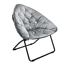 Brenton Studio Velvet Plush Chair Gray
