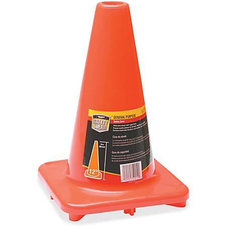"Honeywell Orange Traffic Cone - 1 Each - 12"" Height - Cone Shape - Fade Resistant, Long Lasting, UV Resistant - Orange"