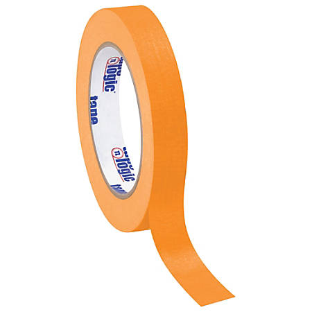"Tape Logic® Color Masking Tape, 3"" Core, 0.75"" x 180', Orange, Case Of 12"
