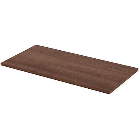 "Lorell® Quadro Sit-To-Stand Laminate Table Top, 48""W x 24""D, Walnut"