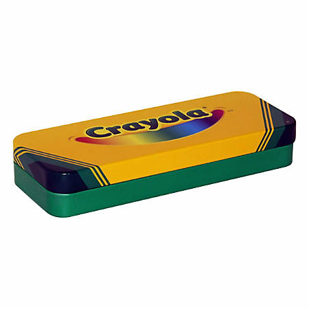 "Crayola® Storage Box, 8"" x 3 3/16"" x 1 7/16"", Yellow"