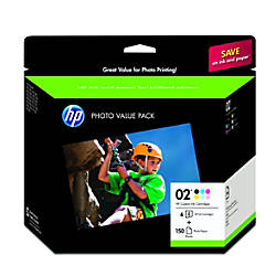 HP 02 Multicolor Original Ink Cartridges