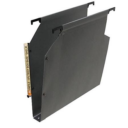 """Oblique Filing Systems Heavy-Duty File Folders, 1 3/16"""" Capacity, Kraft, Gray, Box Of 25"""
