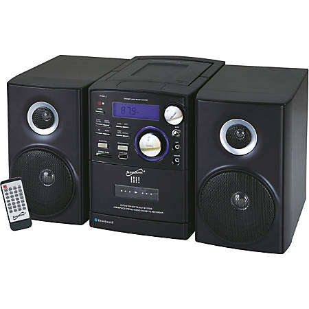 Supersonic SC-807 Micro Hi-Fi System - iPod Supported - CD Player, Cassette Recorder - 1 Disc(s) - 1 Cassette(s) - AM, FM - CD-DA, MP3 - USB - Remote Control