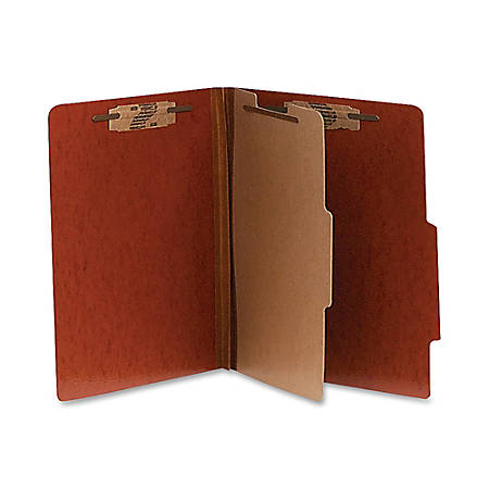 """ACCO® Presstex® Classification Folders, Letter Size, 2"""" Expansion, Red, Box Of 10"""