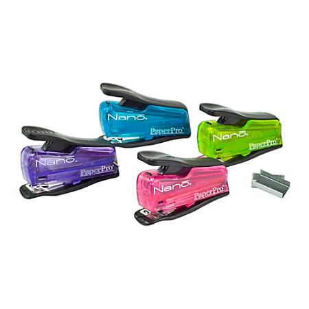 PaperPro® inJOY™ 12 Nano® Mini Stapler, Assorted Colors (No Color Choice)