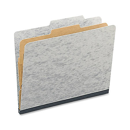 """ACCO® Presstex® Classification Folders, Letter Size, 2"""" Expansion, Gray, Box Of 10"""