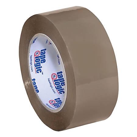 "Tape Logic® Acrylic Sealing Tape, 3"" Core, 2"" x 110 Yd., Tan, Pack Of 6"