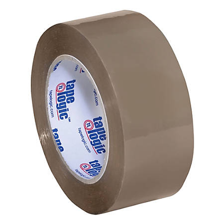 "Tape Logic® Acrylic Sealing Tape, 3"" Core, 2"" x 110 Yd., Tan, Pack Of 6"