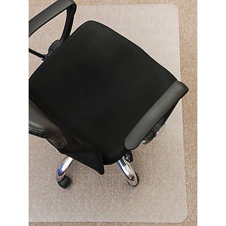 "Mammoth PolyCarbPlus Polycarbonate Chair Mat, 48""W x 53""L. Clear"