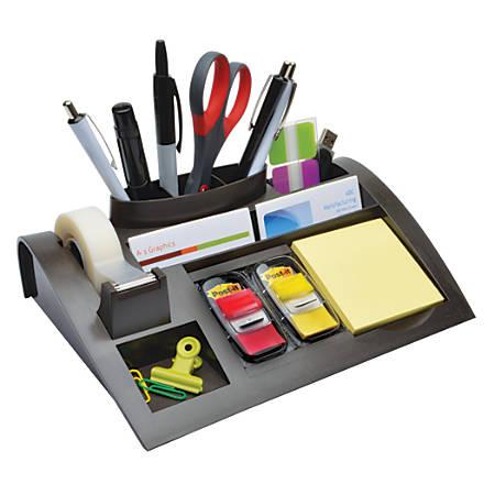 3M™ Weighted Desktop Dispenser And Organizer, Gray