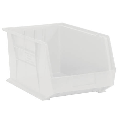 "Office Depot® Brand Plastic Stack And Hang Bin Boxes, 5 3/8"" x 4 1/8"" x 3"", Clear, Pack Of 24"