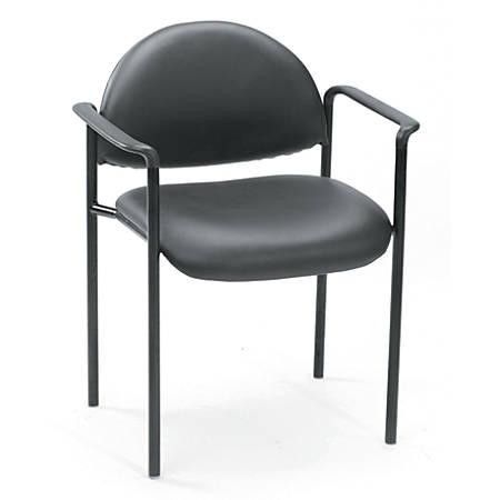 Boss Diamond Stacking Chair, Black