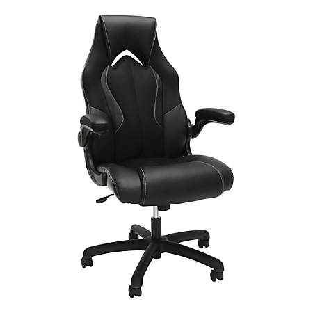 OFM Essentials 3086 Racing-Style High-Back Gaming Chair, Black