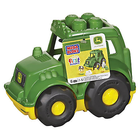 Mega Bloks First Builders John Deere Tractor Set