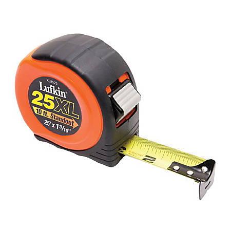 "Lufkin 800 Series Xtra-Wide Power Return Tape Measure, SAE, 25' x 1-3/16"" Blade"