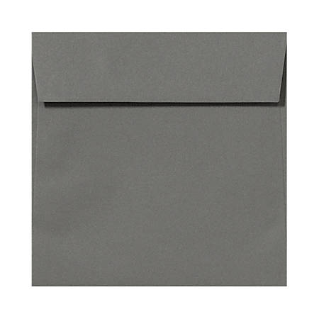 "LUX Square Envelopes With Peel & Press Closure, 5 1/2"" x 5 1/2"", Smoke Gray, Pack Of 50"