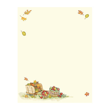 """Great Papers!® Holiday-Themed Letterhead Paper, 8 1/2"""" x 11"""", Harvest Apples, Pack Of 80 Sheets"""