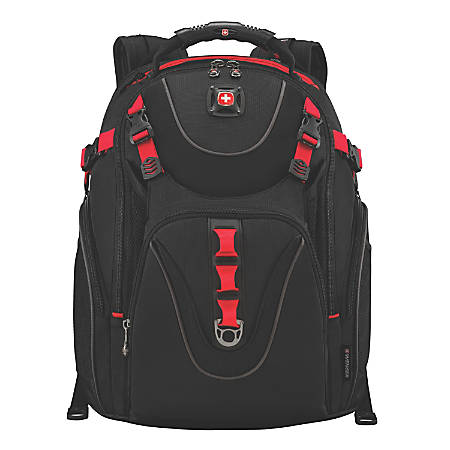 Wenger® Maxxum Laptop Backpack, Black/Red