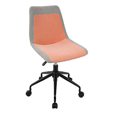 Lumisource Orzo Task Chair, Orange/Gray with Black Frame
