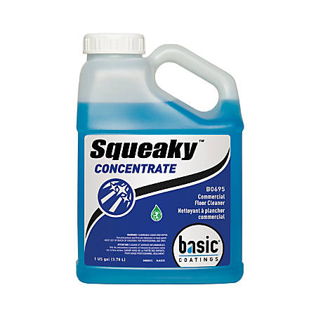 Basic Coatings Squeaky™ Concentrated Cleaning Solution, Unscented, 138 Oz, Pack Of 4