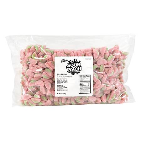 Sour Patch Green Rind Watermelon Candies, 5-Lb Bag