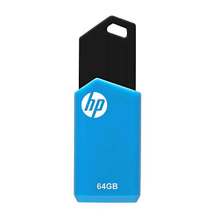 HP v150w USB 2.0 Flash Drive, 64GB, Blue, (P-FD64GHPV150W-GE)