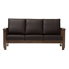 Baxton Studio Alina Faux Leather Sofa