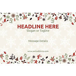 Adhesive Sign Christmas Elements Horizontal