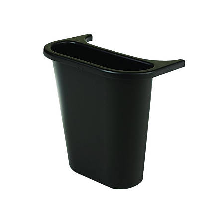 Rubbermaid® Wastebasket Recycling Side Bin, 1.2 Gallons, Black