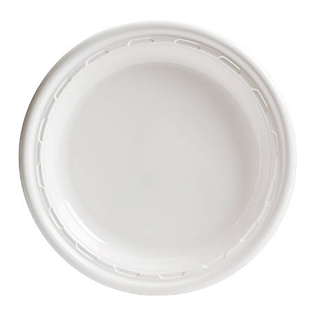 "Dart Heavyweight Plastic Plates, 10"" Diameter, White, Bag Of 125"