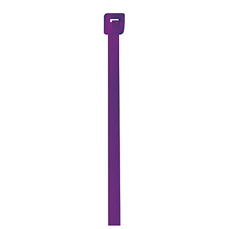 "Office Depot® Brand Color Cable Ties, 4"", Purple, Case Of 1,000"