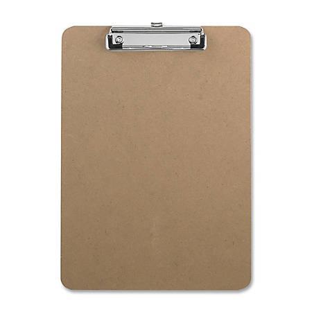 "Sparco Hardboard Clipboard, 8 1/2"" x 12"", Brown"