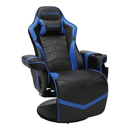 Respawn 900 Racing-Style Gaming Recliner, Black/Blue