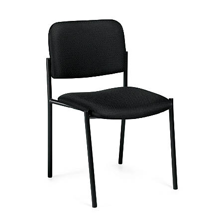 """Offices To Go™ Stackable Chair, 32""""H x 22 1/2""""W x 19 1/2""""D, Black"""