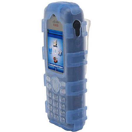 zCover gloveOne Carrying Case IP Phone - Blue - Dirt Resistant Interior, Scratch Resistant Interior, Liquid Resistant Interior, Impact Resistance Interior, Heat Resistant, Cold Resistant, UV Resistant, Tear Resistant, Puncture Resistant - Silicone Rubber