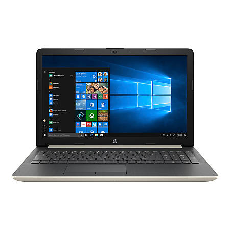 "HP 15-db0074nr - A9 9425 / 3.1 GHz - Win 10 Home 64-bit - 4 GB RAM - 1 TB HDD - DVD-Writer - 15.6"" 1366 x 768 (HD) - Radeon R5 - Bluetooth - ash silver keyboard frame, pale gold (cover and base) - kbd: US"