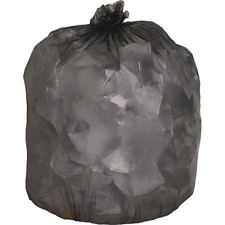 "Genuine Joe Linear Low-Density Trash Liners, 60 Gallons, 38"" x 58"", Black, Box Of 200"