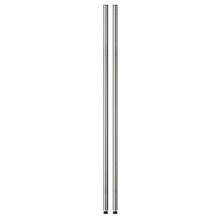 """Honey-Can-Do Steel Shelving Support Poles, 72"""" x 1"""", Chrome, Pack Of 2"""