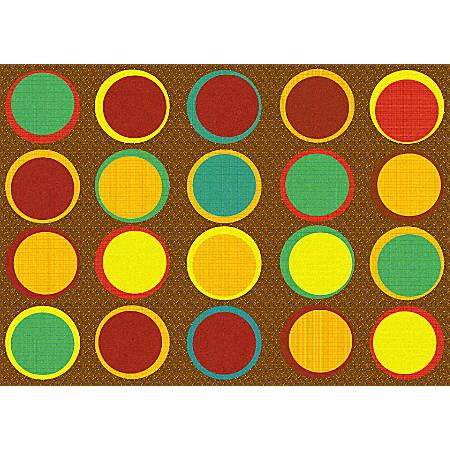 "Flagship Carpets Sitting Spots Rug, 6' x 8' 4"", Rectangular, Muted"